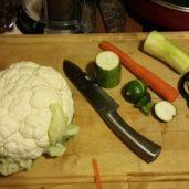 Cauliflower/zucchini/carrots