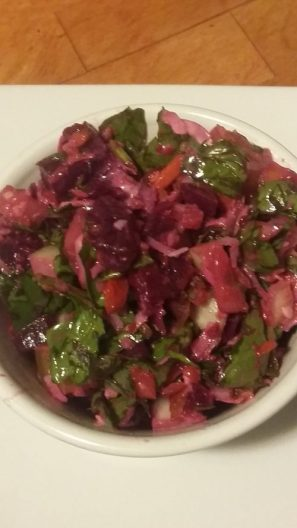 Beet-spinach salad