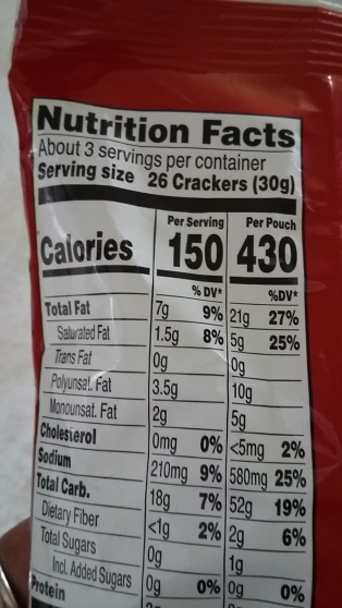 LABEL READING: Eating this whole bag is 430 calories! The equivalent of one meal.