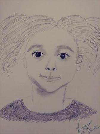 My sketch of my granddaughter Lyric